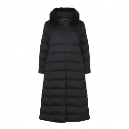 MARINA RINALDI LONG PUFFA COAT WITH FUR COLLAR - Plus Size Collection