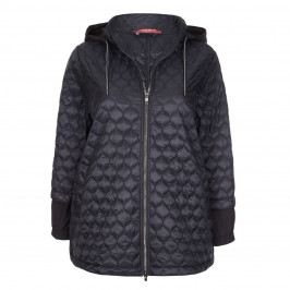 Marina Rinaldi black hooded PUFFA COAT - Plus Size Collection
