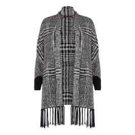 Marina Rinaldi Black and White Shawl - Plus Size Collection