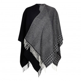 MARINA RINALDI PURE WOOL MONOCHROME WRAP - Plus Size Collection
