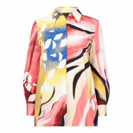 MARINA RINALDI PRINTED COTTON SHIRT - Plus Size Collection