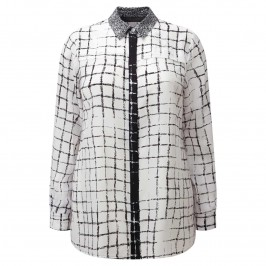 Marina Rinaldi monochrome silk SHIRT - Plus Size Collection