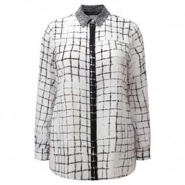Marina Rinaldi monochrome silk SHIRT - Plus Size Collection