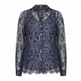 Marina Rinaldi blue lace SHIRT - Plus Size Collection