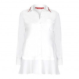 Marina Rinaldi embellished collar SHIRT - Plus Size Collection
