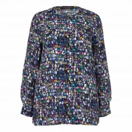Marina Rinaldi multicolour crepe de chine silk SHIRT - Plus Size Collection