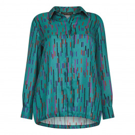 MARINA RINALDI TWILL SHIRT TEAL - Plus Size Collection