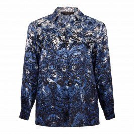 MARINA RINALDI lace detail silk SHIRT - Plus Size Collection