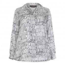 Marina Rinaldi Printed Silk Shirt - Plus Size Collection