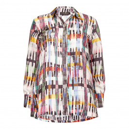 MARINA RINALDI PRINTED SILK SHIRT - Plus Size Collection