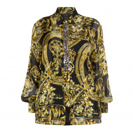 MARINA RINALDI BAROQUE PRINT SILK SHIRT - Plus Size Collection