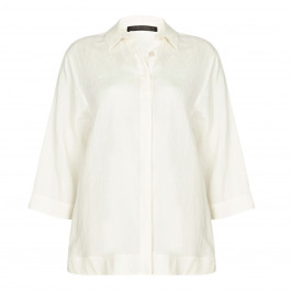 Marina Rinaldi ivory linen SHIRT - Plus Size Collection