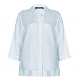 Marina Rinaldi sky linen SHIRT - Plus Size Collection