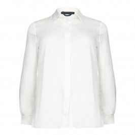 Marina Rinaldi ivory silk satin shirt - Plus Size Collection