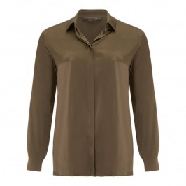 Marina Rinaldi olive green silk shirt - Plus Size Collection