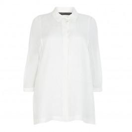 MARINA RINALDI LIGHTWEIGHT LINEN SHIRT WHITE - Plus Size Collection