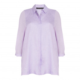 MARINA RINALDI LIGHTWEIGHT LINEN SHIRT LILAC - Plus Size Collection
