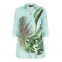 MARINA RINALDI LONG PRINTED SHIRT - Plus Size Collection