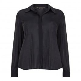 MARINA RINALDI LUREX JERSEY SHIRT BLACK - Plus Size Collection