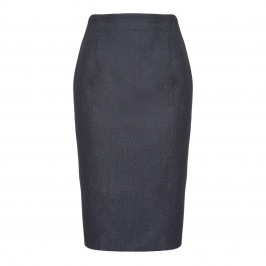 MARINA RINALDI SILK BLEND BLUE mélange PENCIL SKIRT - Plus Size Collection