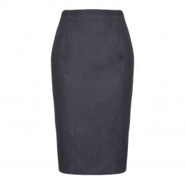 MARINA RINALDI SILK BLEND BLUE mélange PENCIL SKIRT - Plus Size Collection