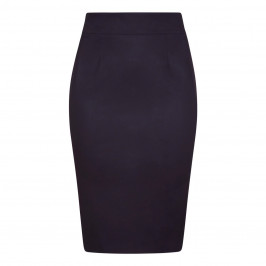 MARINA RINALDI COTTON GABERDINE PENCIL SKIRT BLACK - Plus Size Collection