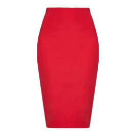 Marina Rinaldi red jersey stretch pencil SKIRT - Plus Size Collection