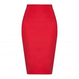 Marina Rinaldi red jersey stretch pencil SKIRT - Plus Size Collection