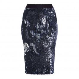 MARINA RINALDI NAVY SEQUIN PENCIL SKIRT - Plus Size Collection