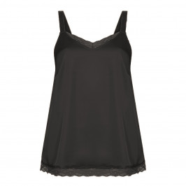 MARINA RINALDI SPORT SATIN CAMISOLE BLACK - Plus Size Collection