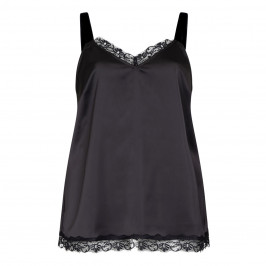 MARINA RINALDI BLACK SATIN CAMISOLE - Plus Size Collection