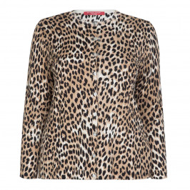 MARINA RINALDI KNITTED LEOPARD PRINT CARDIGAN - Plus Size Collection