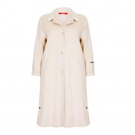 MARINA RINALDI CREAM DOUBLE FACE COAT - Plus Size Collection