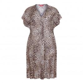 MARINA RINALDI LEOPARD PRINT DRESS - Plus Size Collection