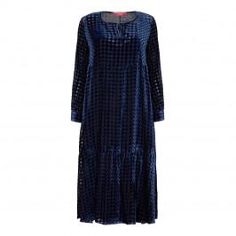 MARINA RINALDI VELVET LATTICE DRESS - Plus Size Collection