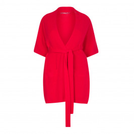 MARINA RINALDI RED GILET WITH WOOL AND CASHMERE - Plus Size Collection