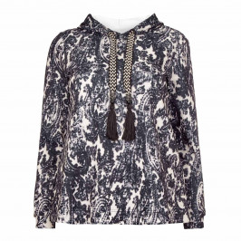 MARINA RINALDI PAISLEY HOODY - Plus Size Collection