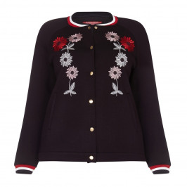 Marina Rinaldi floral embroidered sport JACKET - Plus Size Collection
