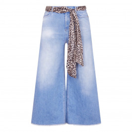 MARINA RINALDI WIDE LEG PALE DENIM JEANS