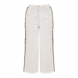 MARINA RINALDI WIDE-LEG JEANS WHITE - Plus Size Collection