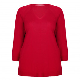 MARINA RINALDI KNITTED V-NECK TUNIC - Plus Size Collection