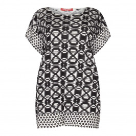 Marina Rinaldi black print tunic with border pattern - Plus Size Collection