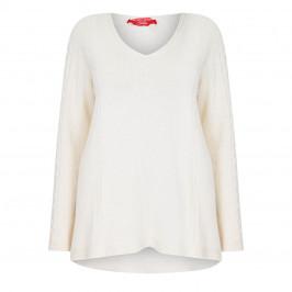 MARINA RINALDI CASHMERE BLEND JUMPER WHITE - Plus Size Collection