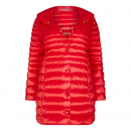 Marina Rinaldi RED GLOSSY LIGHT WEIGHT PUFFA COAT - Plus Size Collection