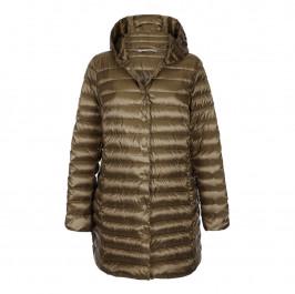 MARINA RINALDI BRONZE PUFFA COAT - Plus Size Collection