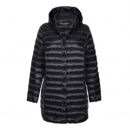 MARINA RINALDI BLACK PUFFA COAT - Plus Size Collection