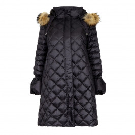 Marina Rinaldi QUILTED MID LENGTH HOODED PUFFA COAT