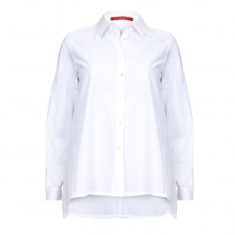 MARINA RINALDI WHITE COTTON SHIRT - Plus Size Collection