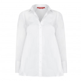 MARINA RINALDI PLEATED WHITE SHIRT - Plus Size Collection