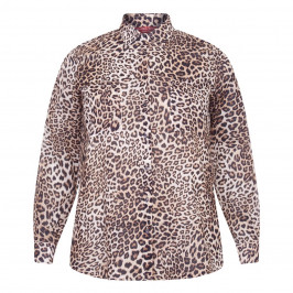 MARINA RINALDI COTTON MUSLIN SHIRT LEOPARD PRINT - Plus Size Collection